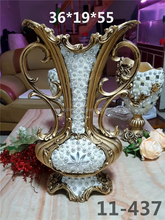 European fashion resin artificial flower vase wedding table centerpieces home decoration