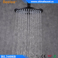 New Black Painted Round Mix Shower Wall Mounted Ceiling Waterfall Head Shower