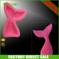 2017 Amazon hot sale china factory direct price custom fishtail silicone fondant mold for cake decorating tools