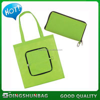 Contemporary hot sell foldable oxford zipper shopping bag