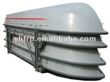 5918 fiberglass fishing boat with paddles for sale