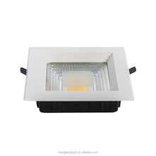 Low MOQ 10w 20w 30w led square downlight IP44 COB recessed led panel downlight
