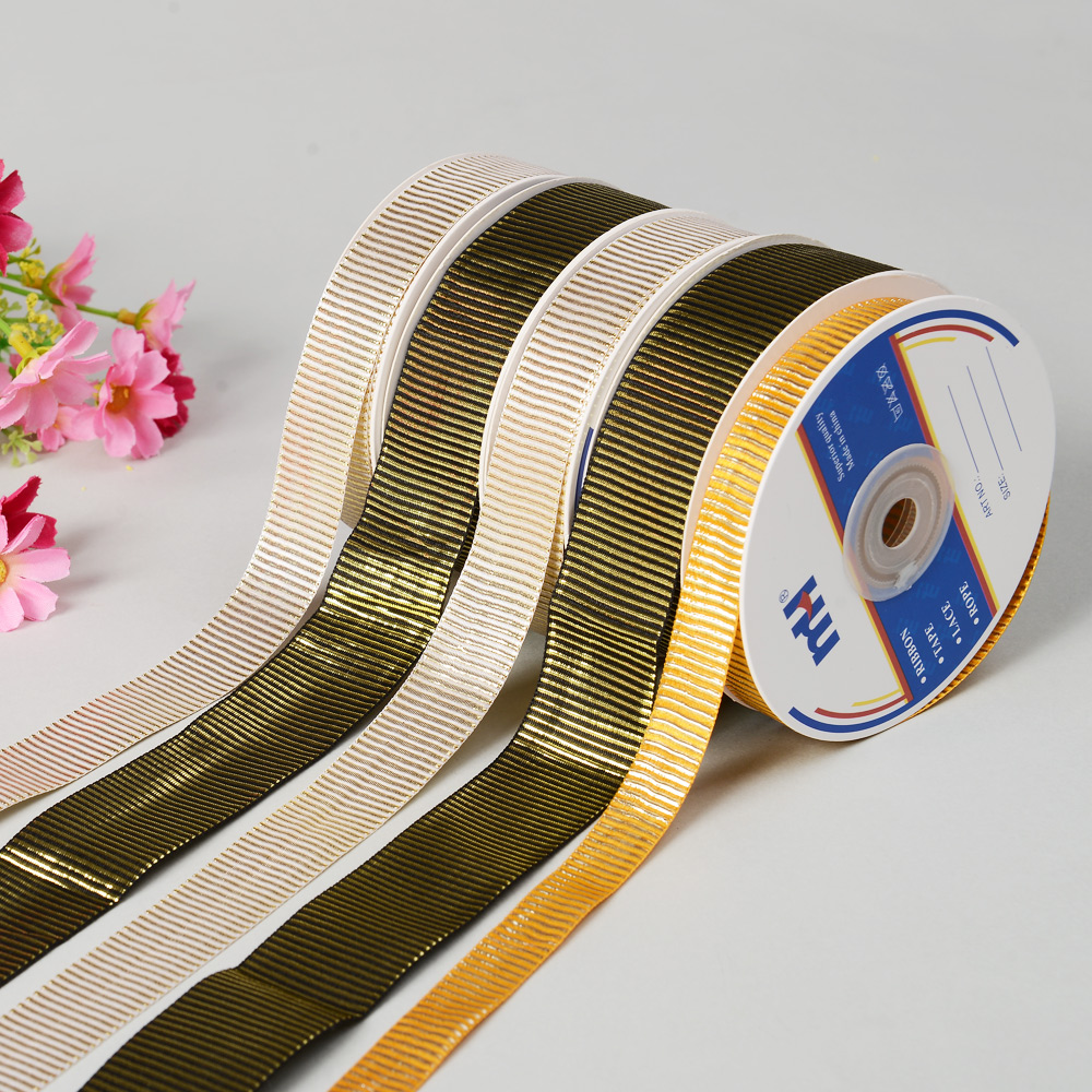 "1/2"" Fashion Ribbon with Silver Striped"