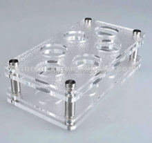 acrylic serving trays/lucite wine bottle tray for bar