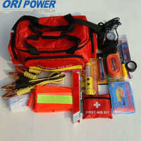 OP manufacture FDA CE ISO approved phosphor strip roadside auto emergency tool kit for car