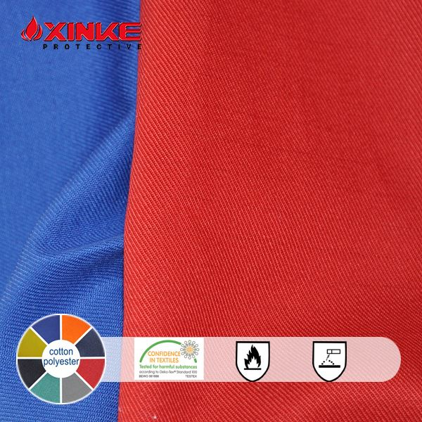 OEM Cheap and high quality firefighting fabric most popular cvc firefighter workwear fabric
