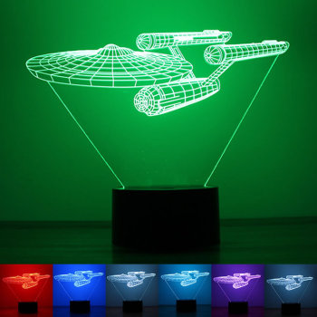 2016 New Star Trek 3D Nightlight USB powered LED LOGO custom Home Furnishing lamp