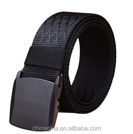 Nylon Canvas Breathable Tactical Men Waist Military Belt With YKK Plastic Buckle