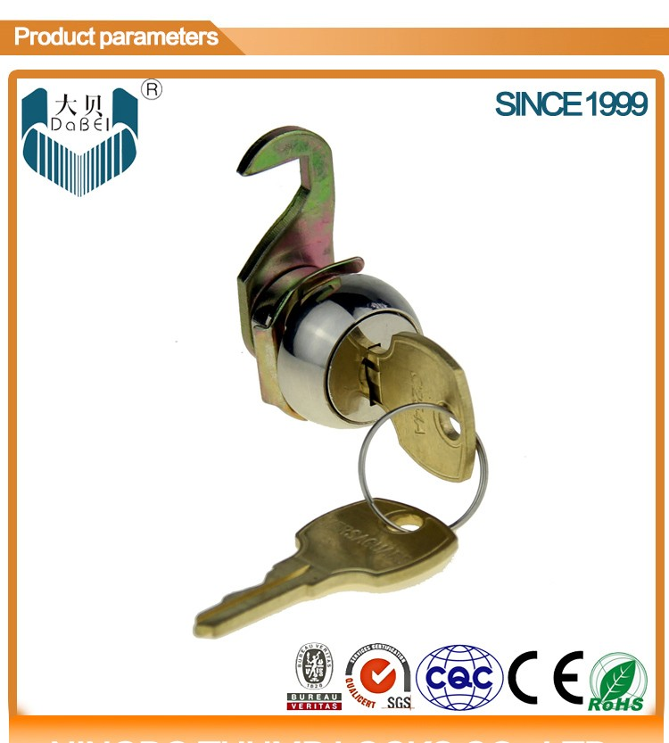 311 high quality cam lock with full brass key (M19*L9.7mm)