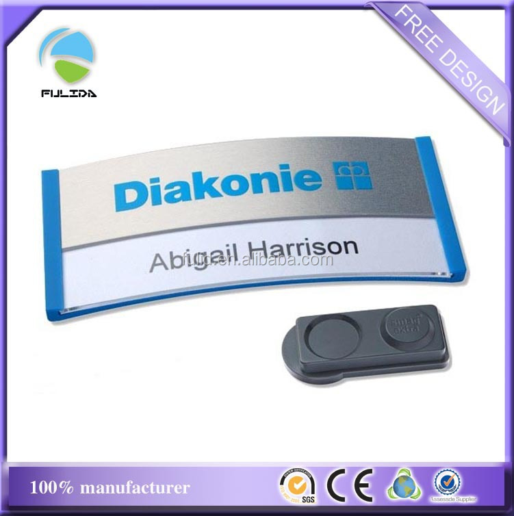Changeable magnetic ABS Name badge, unique name badge, oval name tags