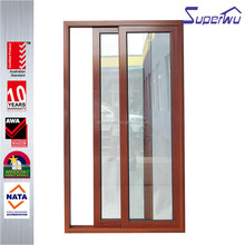 Superwu good price latest design fire rated frameless exterior glass sliding doors