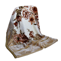 Wholesale 2ply Raschel Blanket 100% Polyester 200X240CM Floral Flower Printed Super Soft Carving Cheap Thick Warm Mink Blankets