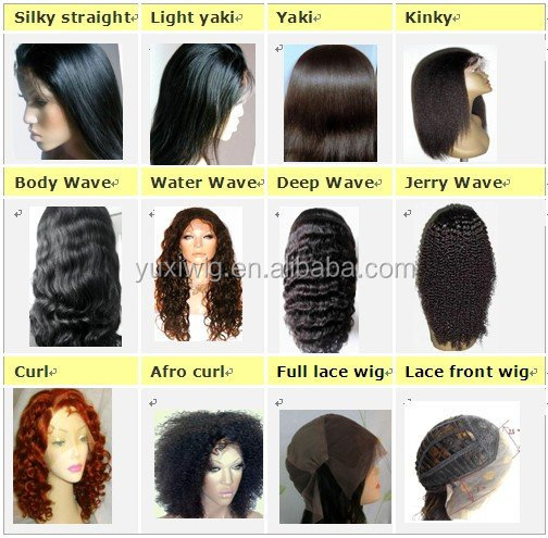 Top grade real brazilian human hair full lace wig