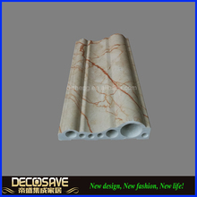 PVC Marble Decorative Stone Mouldings baseboard