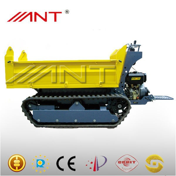 BY1000M construction machinery motorized tracked wheelbarrow