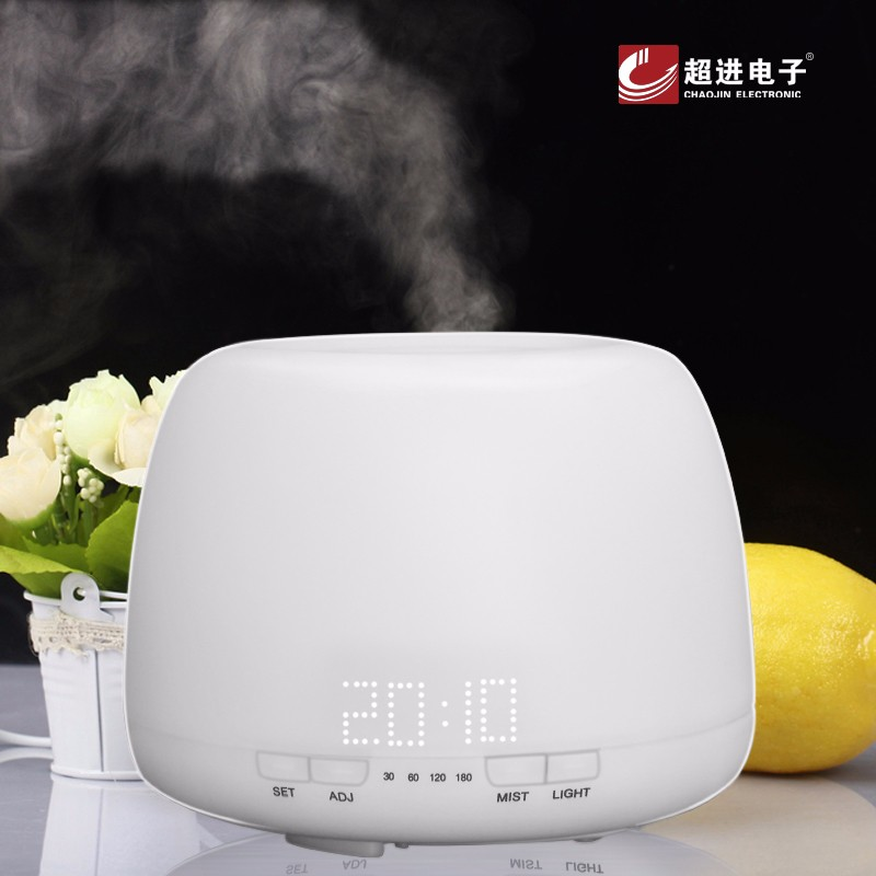 KC-001 400ml Mini 12/24hr 12W Car Time Aroma Diffuser With Clock