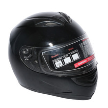 DOT Gloss Black Street Sport Bike Full Face VISOR Motorcycle Adult Helmet M L XL