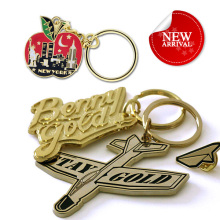 custom shaped made blank engraved name brass metal airplane keychains