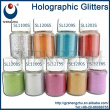 Solvent resistance holographic glitters