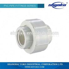 Manufacturer Good quality PVC BSPT THREAD PIPE FITTINGS PVC FEMALE UNION PLASTIC PIPE FITTINGS