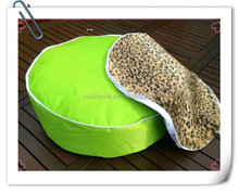 cheetah faux fur dog beds, warm dog sleeping cushion