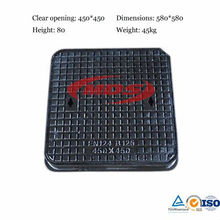 Light Duty EN124 B125 Sand Casting Manhole Cover Dimensions