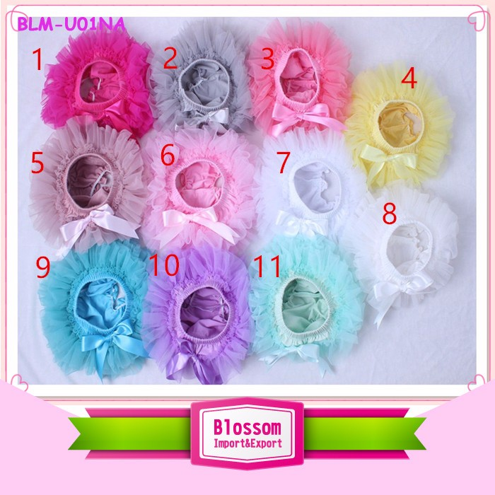 Toddlers Wear Plain white Ruffle Lace Bubble Design knickers Newborn Infant Shorts Baby Girl Diaper Bloomers