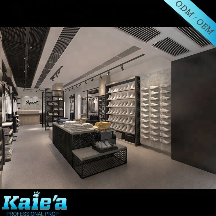 Professional design clothes shop decoration/shop decoration/furniture for clothing store