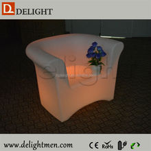 Waterproof Color Changing Led Illuminated Single Seat Sofa in Living Room