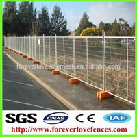 rectangular tube fencing temporary fence