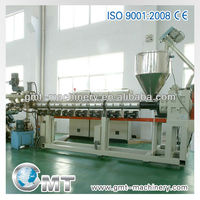 Plastic extrusion machinery for pipe and profile extruder