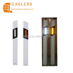 flexible guardrail road sign reflective delineator