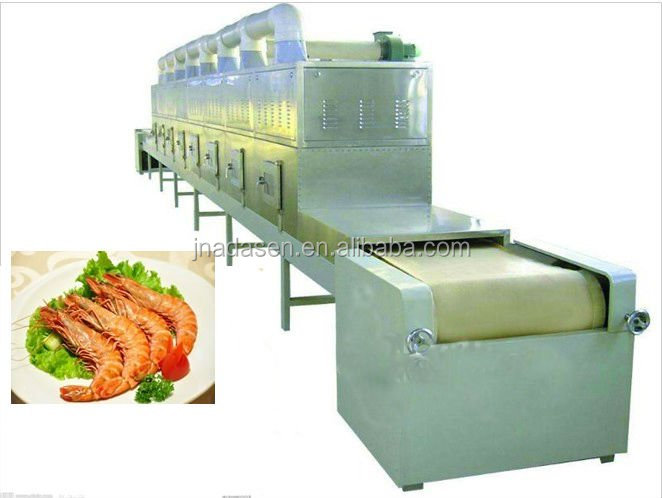 custom made Microwave Shrimp Meat/Fish Fillet drying/Roasting Machine