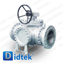Vomiting Blood Price! DIDTEK BS5351Three-way Ball Valve With Handwheel For Oil