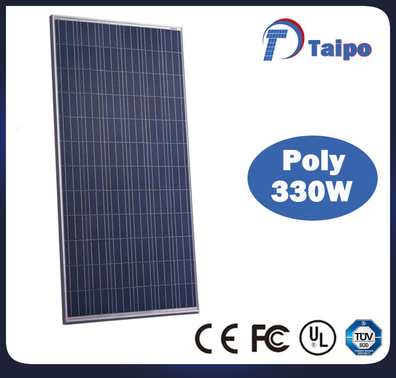 TUV/ISO/CE top quality poly 330W solar panel with 25 years performance guarantee