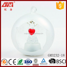 wholesale frosted opening decorative glass ball crafts