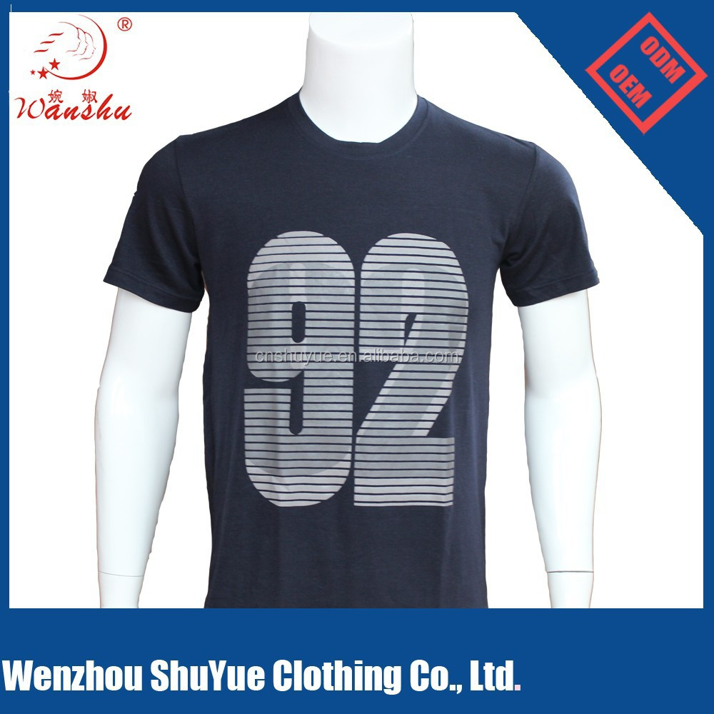 Men round neck lycra cotton custom printed t shirts, cotton t shirt wholesale