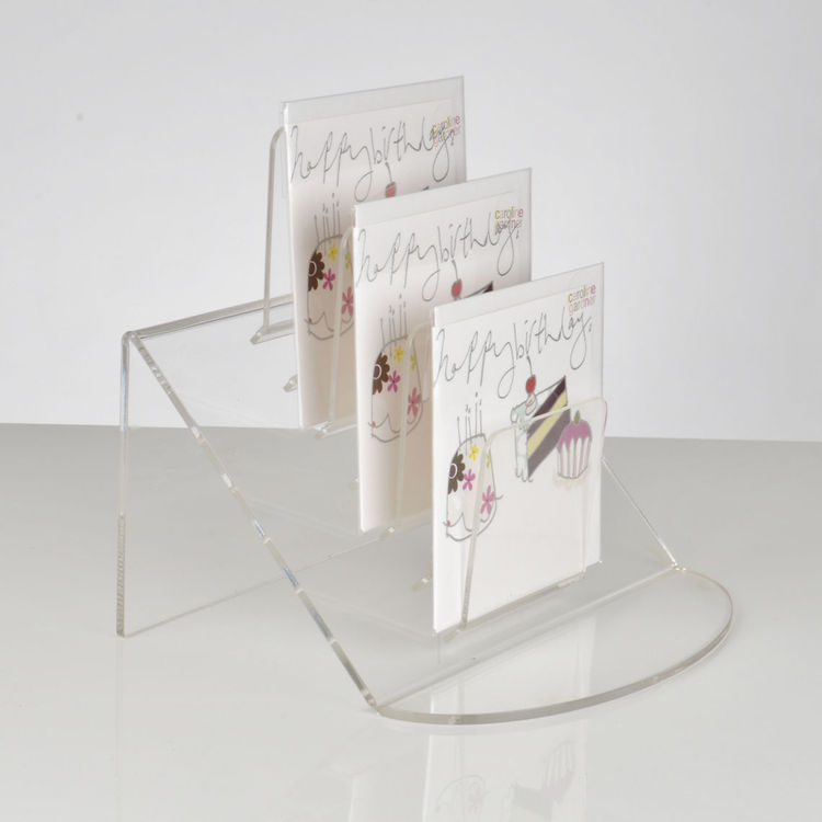 Combining flexible design and compact size clear acrylic information holder