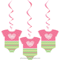 Girl baby shower party supplies,hanging swirl