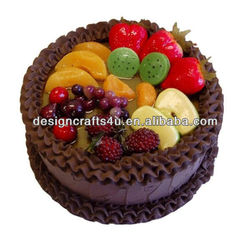 delicious fruit cake chocolate fake food