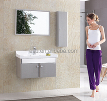Indonesia simple design 80cm Stainless Steel customize bathroom vanity