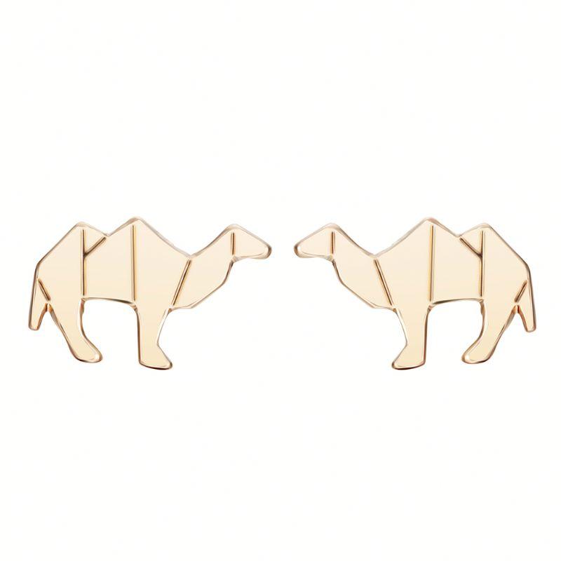 Cute Animal Camel Gold Silver Mens Earring Magnetic Stud Earrings for Women
