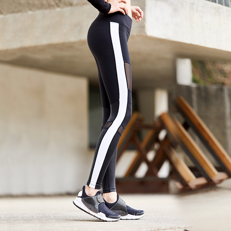 Custom mesh sports tight women fitness wear yoga pants leggings