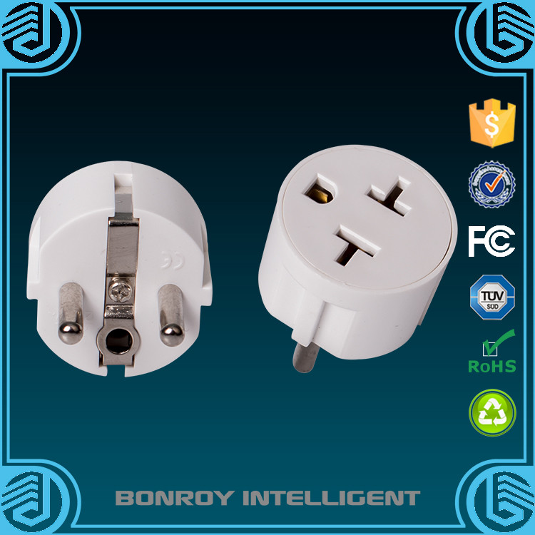 2016 wholesale best selling ac dc electric switch power travel us to eu adapter