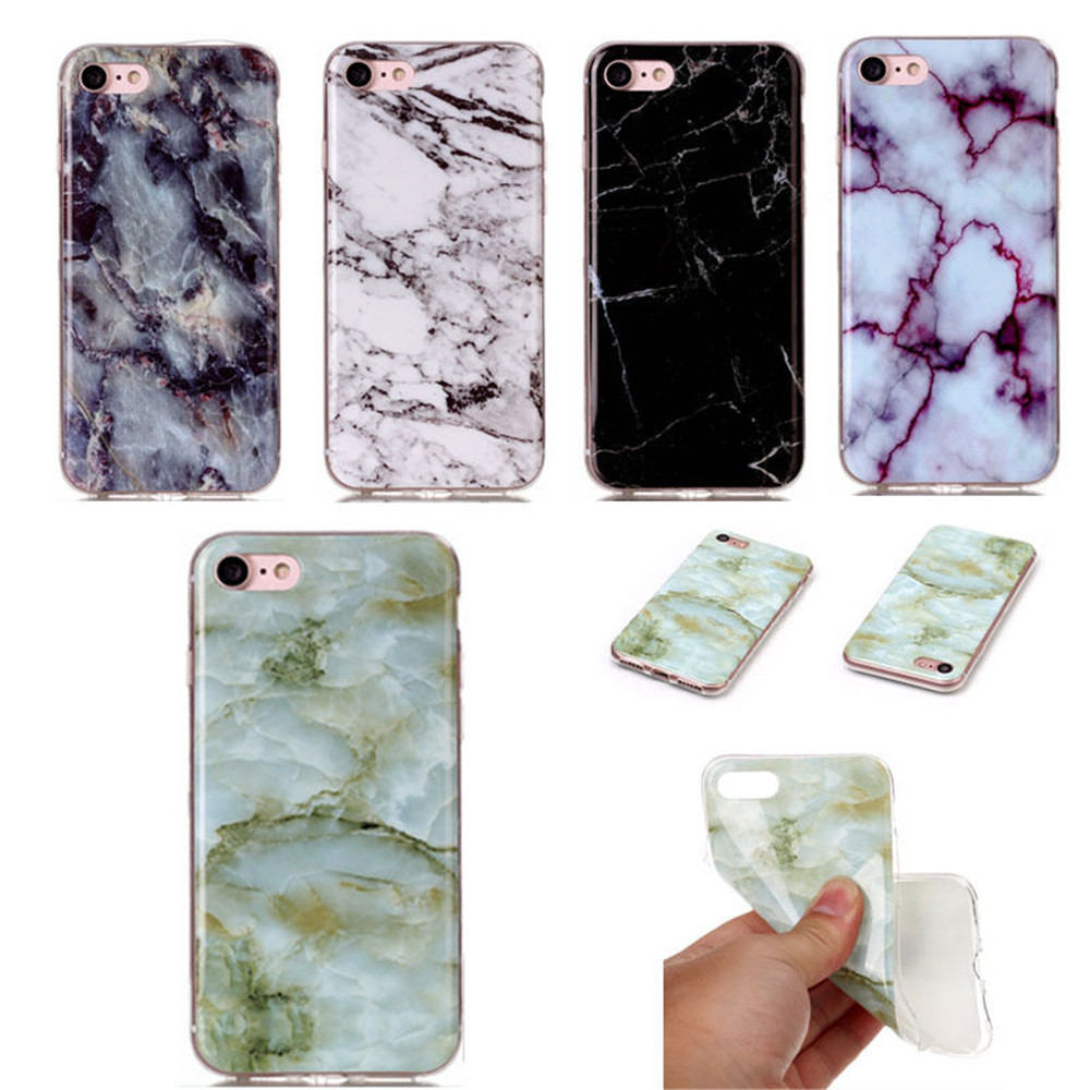 Emeralds Stone Design Marble Veins Style Rock Shale Grains ultra Slim Soft Flexible TPU silicone cover Case for iphone 6 plus