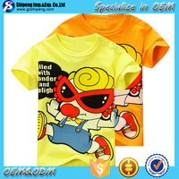 Top selling Western Style children clothing little boys printed t shirt for sublimation printing