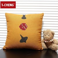 Fashion Plain Design Printed Cushion Cover Body Pillow Chair Seat Cushion Home Sofa Decorative Pillow Case