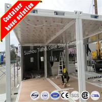 steel structure prefab mobile container shop