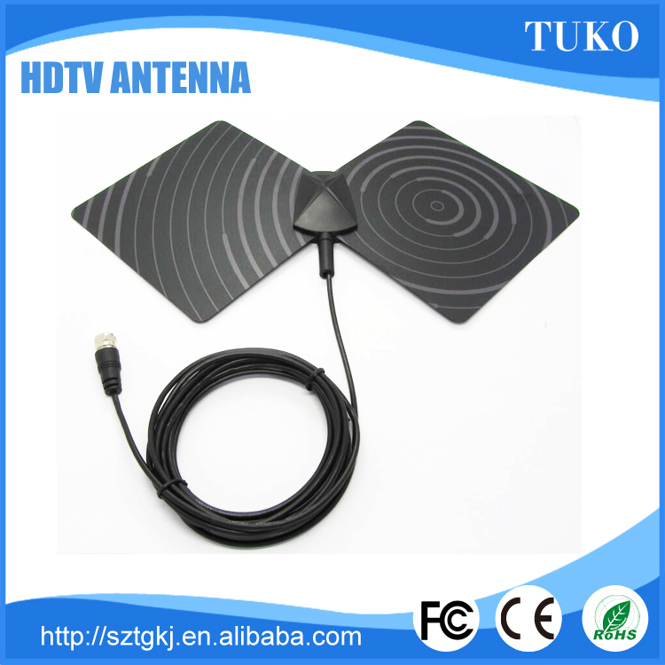 Hot selling Flat HD Digital Indoor Amplified TV Antenna -50 Miles Range TV ISDB-T ATSC DVB-T DVB-T2 HDTV antenna