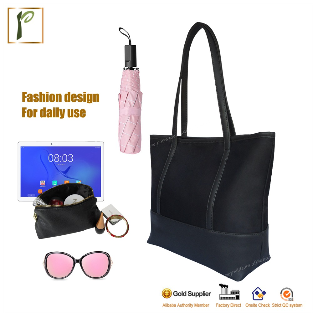 Popwide top quality nylon hand bag lady bag